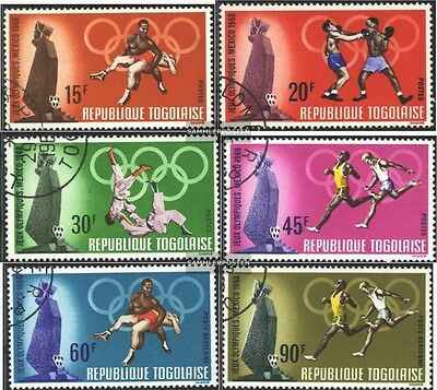 Togo 661A-666A (complete issue) used 1968 olympic. Summer ´68,