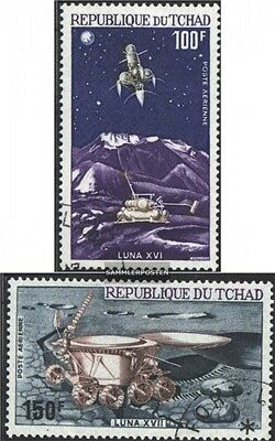 Chad 598-599 (complete issue) used 1972 Soviet lunar vehicles