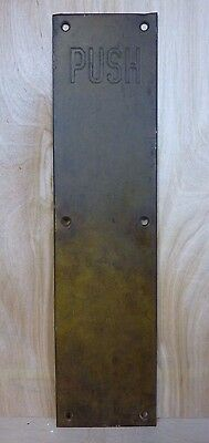 Antique Bronze Door PUSH Plate Architectural Decorative Hardware Impressed Ltrs