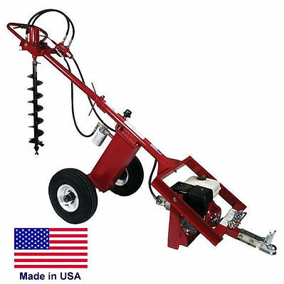 POST HOLE DIGGER Earth Auger - Hydraulic - 7 GPM - 225 FTLBS Torque - 9 Hp Honda