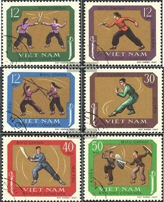 Vietnam 544-549 (complete issue) used 1968 Traditional Sports