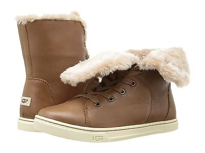3b62d1e7495 UGG WOMEN'S CROFT Luxe Quilt Leather Boots Chestnut 9 NEW IN BOX