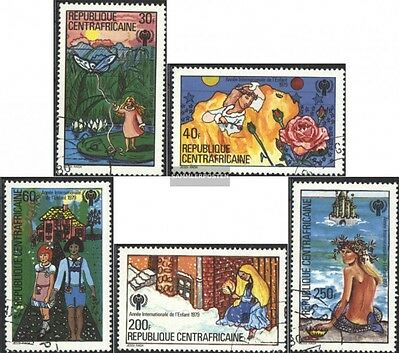 Central African republic. 643-647 (complete issue) used 1979 Ye