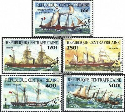Central African republic. 1031-1035 (complete issue) used 1984