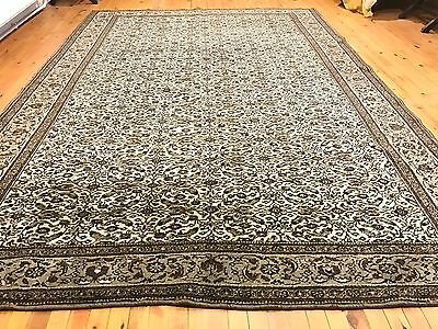 Authentic Ca1900-1939s Antique 7x10ft Turkish Natural Wool Pile Hereke Rug