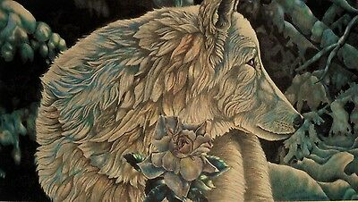 Wolf Art Print Poster Colored Pencil Art Of Wolf At Dawn New Snow  Ltd. Ed. 1000