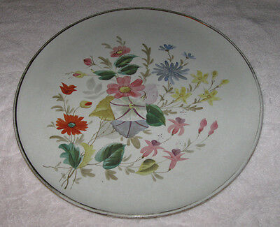 """Antique/Vintage Large China Serving Plate - White, Flowers, Gold - 13"""" Diameter"""