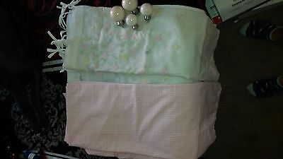 Pottery Barn Kids Gingham Curtain Set of 2 With Knobs