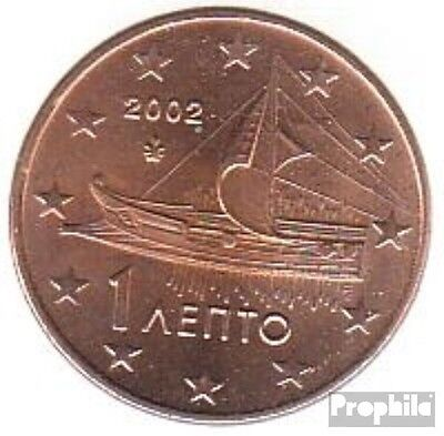 Greece Article: grams 1 2002 brillant uncirculated (BU) 2002 Kursmünze 1 cent