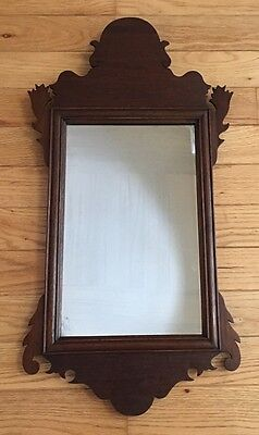 "Authentic Antique American Chippendale Mirror  29.5"" X 15.5"""