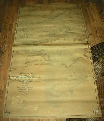 1893 TOPOGRAPHICAL MAP VALLEY FORGE ENCAMPMENT ONLY 2 EXAMPLES KNOWN vafo