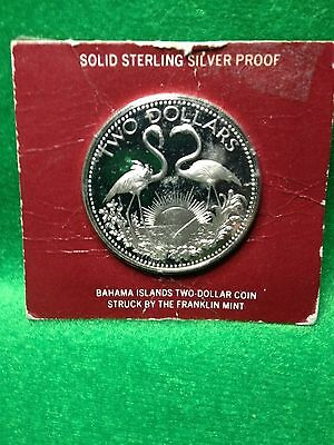 1975 Bahamas Two Dollars Proof Silver Coin.