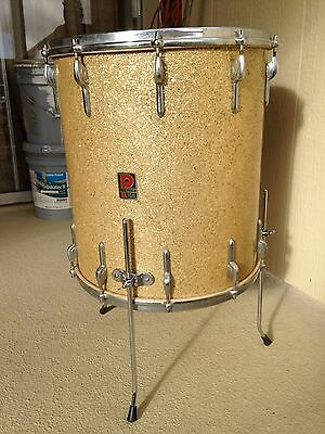 Vintage Premier England 16X18 Silver Sparkle Floor Tom: Early Issue, Metric