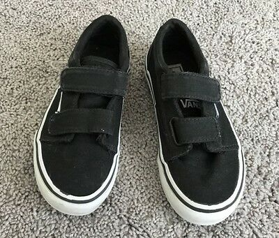 Vans Boys Atwood Black/White Sneakers Size 11m Reg. $45