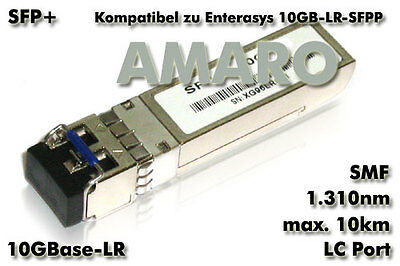 Enterasys 10GB-LR-SFPP comp SFP + 10G LR LC 1310nm 10km SMF Transceiver