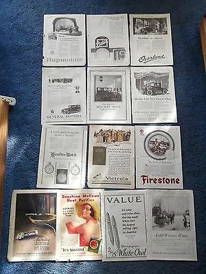 Collection of (13) 1923 Automotive And Goods Ads
