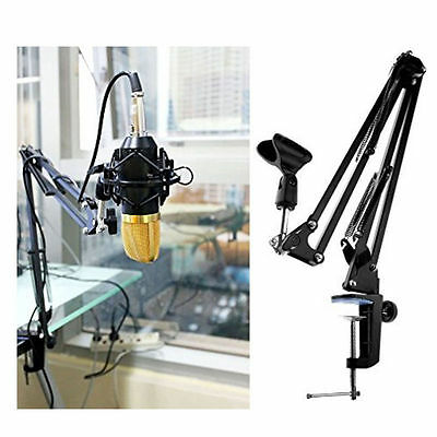 Desktop Mic Microphone Suspension Boom Scissor Arm Stand Mount Adjustable Holder
