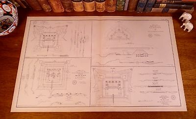 Original Antique Civil War CONFEDERATE CSA 1865 FORT DEFENSES Mobile AL Alabama