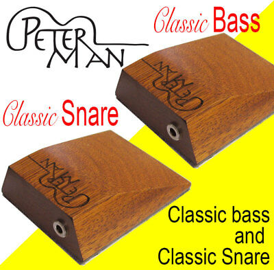 """Classic PRO Bass & SNARE""  acoustic Stompbox by peterman SPECIAL Save $69.-"