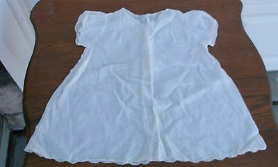 Vintage Victorian White Linen Embroidered & Lace  Baby/doll Dress