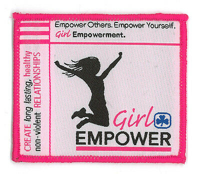 "Girl Guide Scout Brownie BADGE PATCH – new! ~ GGC Girl Empower Challenge 3"" w"