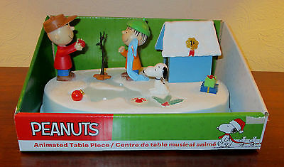 ~VIDEO~ NEW Charlie Brown Snoopy Animated Musical LIghted Figure Christmas