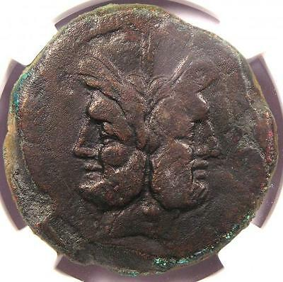 Ancient Roman Coin - Janus 194-190 BC - NGC CH VF Certified Piece!