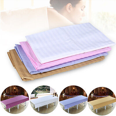 3Size Stripe Cotton Sheet Beauty Spa Massage Bed Table Cover With Breath Hole TP