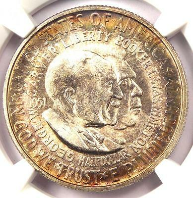 1951-S Washington-Carver Silver Half Dollar Coin 50C - NGC MS66 - $475 Value