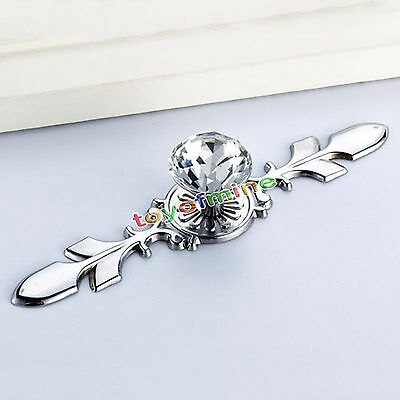 Glass Crystal Dresser Knobs Drawer Furniture Pull Handle Cabinet Door