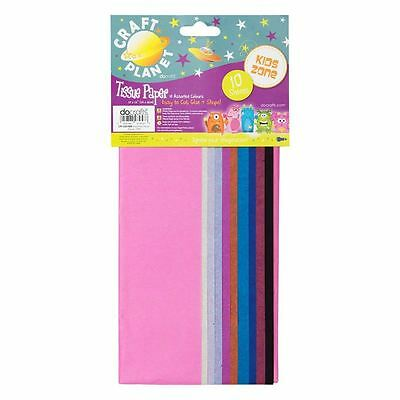 Craft Planet 10 Assorted Sheets Tissue Paper Kids Art & Craft Present Wrapping