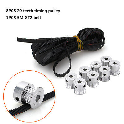 20T 5M ∅6mm GT2 Timing Belt Aluminum Drive Pulley with Bearing for 3D Printer TP