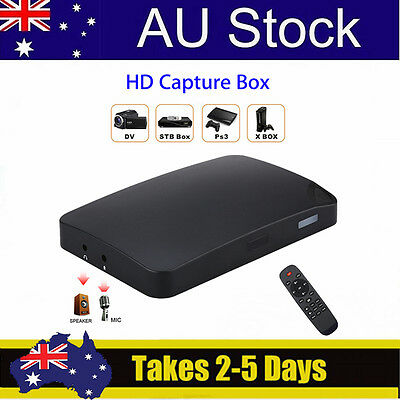 AU! UHD USB 1080P HDMI Game AV Video Capture Recorder Box For DVD+Remote control