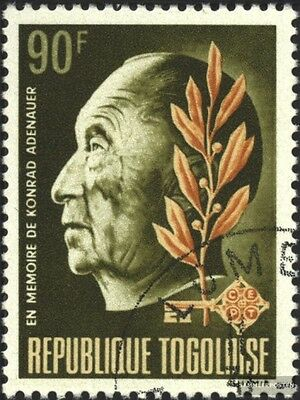 Togo 654A (complete issue) used 1968 1. Death of K. Adenauer