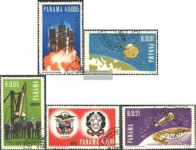 Panama 892-896 (complete issue) used 1966 space research