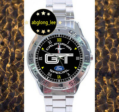 NEW Ford Mustang GT California Special CUSTOM CHROME MEN'S WATCH WRISTWATCHES