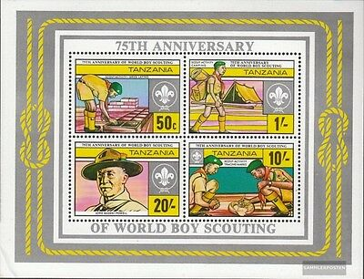 Tanzania block29 (complete issue) unmounted mint / never hinged 1982 Scouting