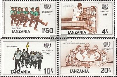 Tanzania 288-291 (complete issue) unmounted mint / never hinged 1986 Year the Yo