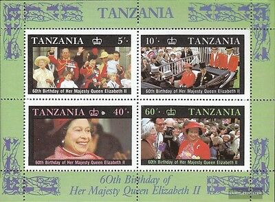 Tanzania block64 (complete issue) unmounted mint / never hinged 1987 Queen Eliza