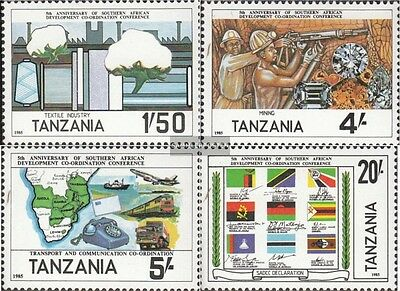 Tanzania 254-257 (complete issue) unmounted mint / never hinged 1985 Entwicklung