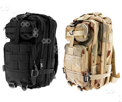 Rucksack Backpack Outdoor Hunting Military Tactical Hiking Camping30L Black/CP
