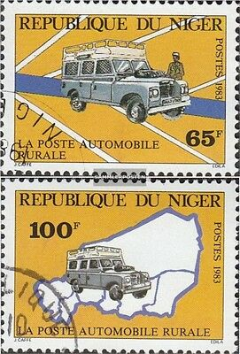Niger 851-852 (complete issue) used 1983 Automobilpost