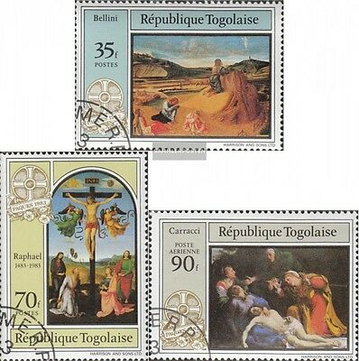 Togo 1641-1643 (complete issue) used 1983 Easter: Paintings