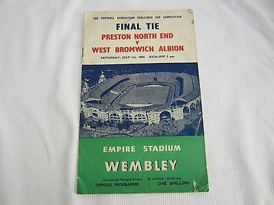 1953-54 FA CUP FINAL PRESTON NORTH END v WEST BROMWICH ALBION @ WEMBLEY