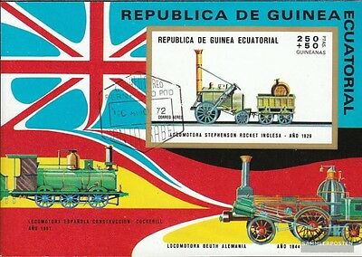 Equatorial-Guinea block32 (complete issue) used 1972 Japanese R