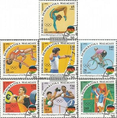 Madagascar 1374-1380 (complete issue) used 1992 Olympics Summer