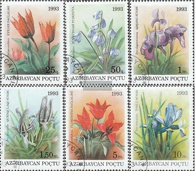 Aserbaidschan 91-96 (complete issue) used 1993 Locals Flora