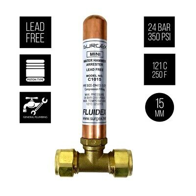 SURGEx MINI Water Hammer Arrester Inline 1/2""