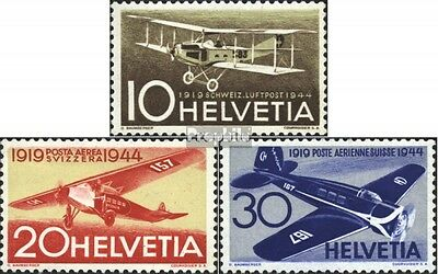 Switzerland 435-437 (complete.issue) used 1944 Airmail
