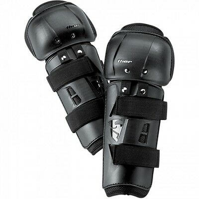 New Kids Youth Thor Knee Shin Guards Pads Motocross BMX Quad Black Age 8-13 Year